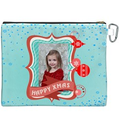 Merry Christmas By Xmas   Canvas Cosmetic Bag (xxxl)   Vfk2odcgy674   Www Artscow Com Back