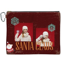 Merry Christmas By Xmas   Canvas Cosmetic Bag (xxxl)   Qqi4853ptyyf   Www Artscow Com Front