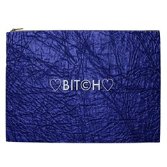 Blue Bit?h Cosmetic Bag (xxl) by OCDesignss