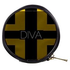 Diva Yellow Black  Mini Makeup Case by OCDesignss