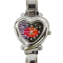 Abstract Lips  Heart Italian Charm Watch  by OCDesignss