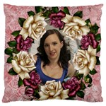 Roses and Lace Standard Flano Cushion Case - Standard Flano Cushion Case (One Side)