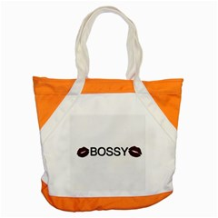 Bossy Lips  Accent Tote Bag by OCDesignss