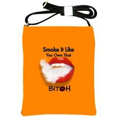 Vape Mouth Smoke Own That Shoulder Sling Bag by OCDesignss