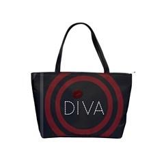 Diva Lips Pattern  Large Shoulder Bag by OCDesignss