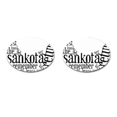 Sankofashirt Cufflinks (oval) by afromartha