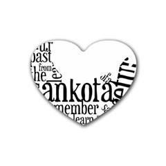 Sankofashirt Drink Coasters 4 Pack (Heart)  by afromartha