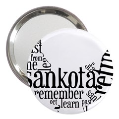 Sankofashirt 3  Handbag Mirror by afromartha