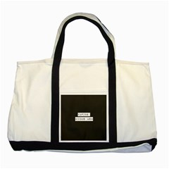 Vaping Kicks Ash Blk&wht  Two Toned Tote Bag by OCDesignss