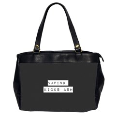 Vaping Kicks Ash Blk&wht  Oversize Office Handbag (two Sides) by OCDesignss