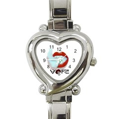 Vape Mouth Smoke  Heart Italian Charm Watch  by OCDesignss