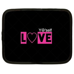 Love Yo self  Netbook Sleeve (large) by OCDesignss
