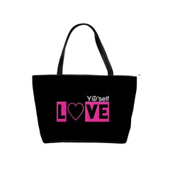 Love Yo self  Large Shoulder Bag by OCDesignss