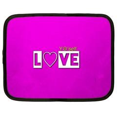Love Yo self  Netbook Sleeve (xxl) by OCDesignss