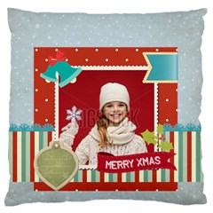 Xmas By Xmas   Large Flano Cushion Case (two Sides)   Ky75vobsq4uo   Www Artscow Com Front
