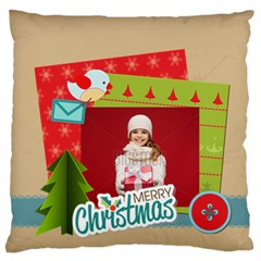 Xmas By Xmas   Large Flano Cushion Case (two Sides)   W5fc4l61a0up   Www Artscow Com Front
