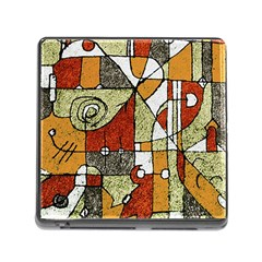 Multicolored Abstract Tribal Print Memory Card Reader With Storage (square) by dflcprints