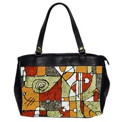 Multicolored Abstract Tribal Print Oversize Office Handbag (two Sides) by dflcprints