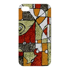 Multicolored Abstract Tribal Print Apple Iphone 4/4s Hardshell Case by dflcprints
