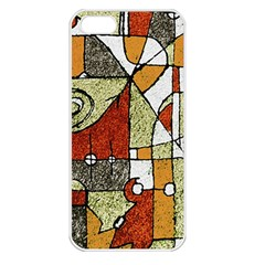 Multicolored Abstract Tribal Print Apple Iphone 5 Seamless Case (white) by dflcprints