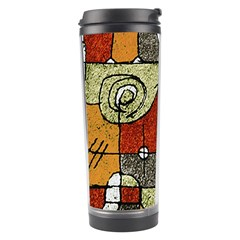 Multicolored Abstract Tribal Print Travel Tumbler by dflcprints