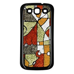 Multicolored Abstract Tribal Print Samsung Galaxy S3 Back Case (black)