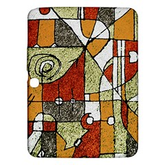 Multicolored Abstract Tribal Print Samsung Galaxy Tab 3 (10 1 ) P5200 Hardshell Case  by dflcprints