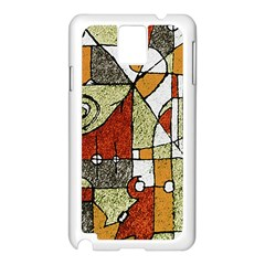 Multicolored Abstract Tribal Print Samsung Galaxy Note 3 N9005 Case (white) by dflcprints
