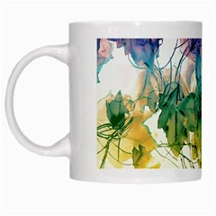Multicolored Floral Swirls Decorative Design White Coffee Mug by dflcprints