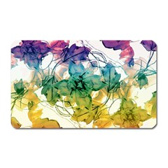 Multicolored Floral Swirls Decorative Design Magnet (rectangular) by dflcprints