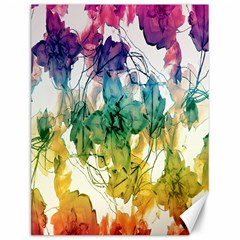 Multicolored Floral Swirls Decorative Design Canvas 12  X 16  (unframed) by dflcprints