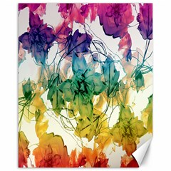 Multicolored Floral Swirls Decorative Design Canvas 16  X 20  (unframed) by dflcprints