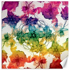 Multicolored Floral Swirls Decorative Design Canvas 20  x 20  (Unframed) by dflcprints