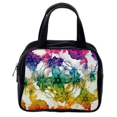 Multicolored Floral Swirls Decorative Design Classic Handbag (one Side) by dflcprints