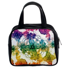 Multicolored Floral Swirls Decorative Design Classic Handbag (two Sides) by dflcprints