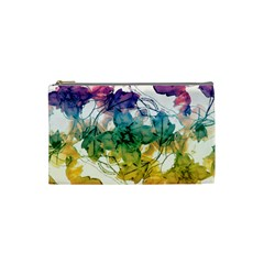 Multicolored Floral Swirls Decorative Design Cosmetic Bag (small) by dflcprints