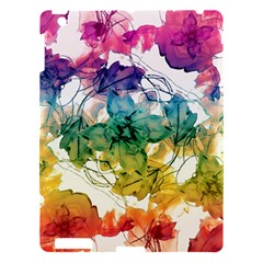 Multicolored Floral Swirls Decorative Design Apple Ipad 3/4 Hardshell Case by dflcprints