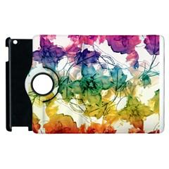 Multicolored Floral Swirls Decorative Design Apple Ipad 2 Flip 360 Case by dflcprints
