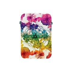 Multicolored Floral Swirls Decorative Design Apple Ipad Mini Protective Sleeve by dflcprints