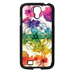 Multicolored Floral Swirls Decorative Design Samsung Galaxy S4 I9500/ I9505 Case (black) by dflcprints