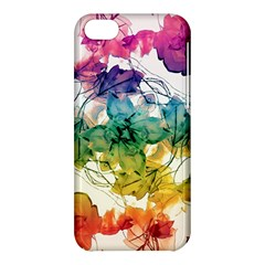 Multicolored Floral Swirls Decorative Design Apple Iphone 5c Hardshell Case by dflcprints
