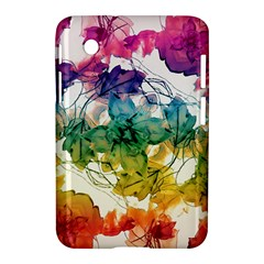 Multicolored Floral Swirls Decorative Design Samsung Galaxy Tab 2 (7 ) P3100 Hardshell Case  by dflcprints