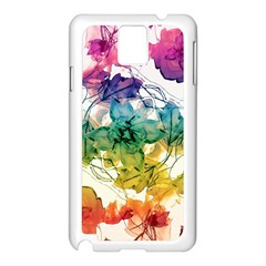 Multicolored Floral Swirls Decorative Design Samsung Galaxy Note 3 N9005 Case (white) by dflcprints