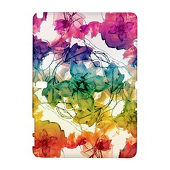 Multicolored Floral Swirls Decorative Design Samsung Galaxy Note 10 1 (p600) Hardshell Case by dflcprints