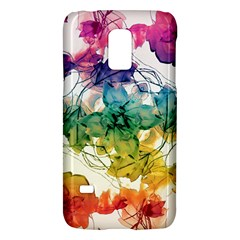 Multicolored Floral Swirls Decorative Design Samsung Galaxy S5 Mini Hardshell Case  by dflcprints