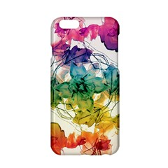 Multicolored Floral Swirls Decorative Design Apple Iphone 6 Hardshell Case by dflcprints