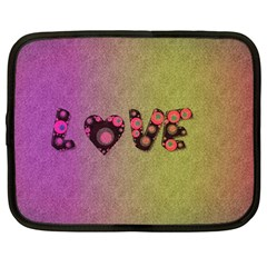 Love Abstract  Netbook Sleeve (large) by OCDesignss