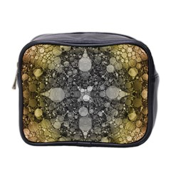 Abstract Earthtone  Mini Travel Toiletry Bag (Two Sides) by OCDesignss
