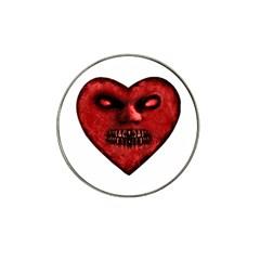 Evil Heart Shaped Dark Monster  Golf Ball Marker 4 Pack (for Hat Clip) by dflcprints