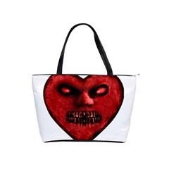 Evil Heart Shaped Dark Monster  Large Shoulder Bag by dflcprints